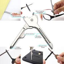 Multifunktion Werkzeug Schlüsselring Messerklinge Schraubendreher Flaschenöffner