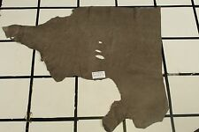 """Mallard Pointe"" Taupe Scrap Leather Hide Approx. 7 sqft. B57X21-7"