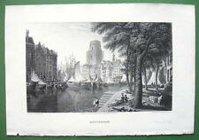 HOLLAND Rotterdam - CPT BATTY Antique Print Engraving