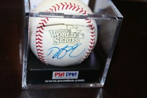 Dustin Pedroia Red Sox signed autographed 2013 World Series Baseball PSA/DNA