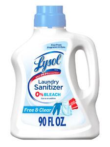 Lysol Laundry Sanitizer, Free & Clear, 90 oz, Eliminates Odors and Kills Bacteri