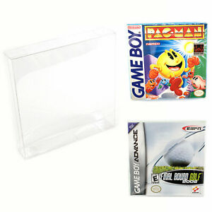 Nintendo Game Boy & Advance Plastic Box Protector Cases Clear .35mm Thick