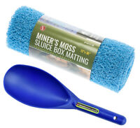 "Miner's Moss 12"" x 36"" Sluice Box Matting Prospector Sand Scoop Blue"