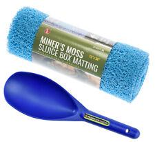 "Miner's Moss 12"" x 36"" Sluice Box Matting Prospector Sand Scoop Blue"