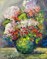 flowers in a vase still life contemporary Impressionism modern PAINTING