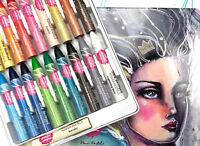 Jane Davenport Power Pastels - 18 Smudging Crayons  Plus 1 Blender W/Storage Tin