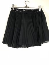 Shareen Collection Womens Shorts with Pleated Shirt Overlay Size 8 Black Skorts