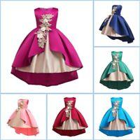 Tutu girl baby party formal flower kid dress wedding princess dresses bridesmaid