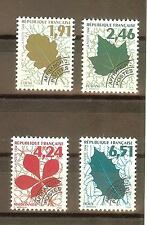 TIMBRES PREOBLITERES YVERT N° 232 à 35 COTE: €8 FEUILLES
