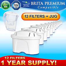 12 x FL402 Water Filter Compatible with Brita Maxtra Cartridges + NEW JUG