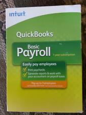 Quickbooks Basic Payroll 2009 1-3 Employees 1-Yr Subscription - Brand New in Box