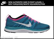 New Authentic Nike Flyknit Lunar 1 Shoes Size 10.5 Neo Turquoise