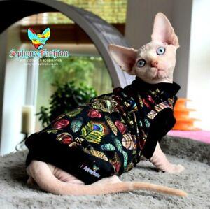 SMALL Sphynx  Cat Kitten TOP T-shirt Vest Devon Peterbald  Pet Cat Clothes