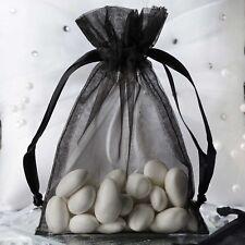 "10 pcs 4x6"" Black ORGANZA FAVOR BAGS Wedding Party Reception Gift Favors SALE"