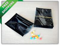 Black Foil Bags Heat Seal Smell Proof Foil Bags Pouches Food Storage