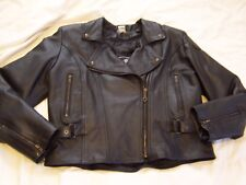 Ladies CHOKO Leather Motorcycle Biker RIPINGEAR Hard Driver Lined Jacket sz 14