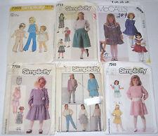 McCall's 2069 Simplicity 7245 7365 7723 7725 7780 Girls Size 3 4 5 6 7 8 Dress