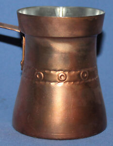 SMALL HAND MADE COPPER COFFEE POT