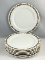 """Syracuse China OPCO MISTIC Blue 7"""" Bread Butter Plates Set of 7"""
