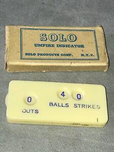 Vintage Baseball Rare Solo Umpire Indicator -- with original box --  US MADE!