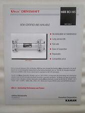 2000'S DOCUMENT KAMAN KAMATICS KAflex DRIVESHAFT MBB B0-105 HELICOPTER