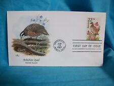 "US 1987 FDC Collection ""Wildlife of the 50 States ""Rhode Island~Bobwhite Quail"
