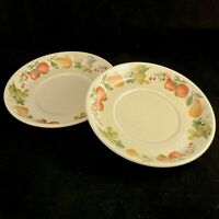 2 Wedgwood Quince Saucers Flat Cup Fruit Ring Cereal England Apples Salad Pears