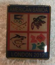 2012 London American Samoa Olympic NOC Athletes Pin