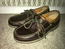 Sperry Top Sider Men's Gold Cup ASV 2-Eye Boat Shoe Size 9 Wide Brown Leather