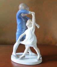Bing & Grondahl Dancing School Young Boy Girl #1845 Figurine Denmark W
