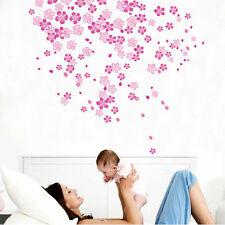 Pink Flower Wall Decals Sticker Art Decor for Baby Girls Kids Bedroom Nursery