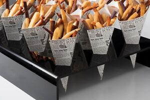 TopStyle Acrylic Cone Holder with Square Holes for Chip n Sauce Cones