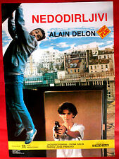 COP'S HONOUR 1985 FRENCH ALAIN DELON JACQUES PERRIN F. GELIN EXYU MOVIE POSTER