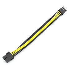PCI-E PCIE PCI Express 8Pin 8P to 2 Port Dual 8Pin 6+2P GPU Graphics Power Cable