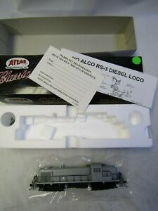 ATLAS 8450 HO ALCO RS-3  UNDECORATED  DC,  NIB