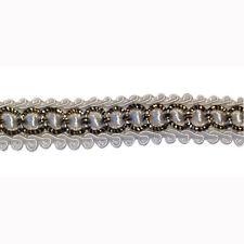 3 yd black white embellishment trim applique 1 cm - 3/8 inch with sequin