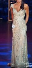 Sherri Hill Shining Gold Couture Sequin Embellished Evening Gown 0 2 Pageant