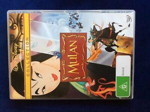 Mulan - Region 4 DVD - Disney - Great Condition - FREE POST