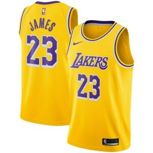 Lebron James LA Lakers 2021 Home Icon Jersey- Yellow