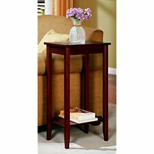 Rosewood Tall End Table Coffee Lamp Door Side Mail Drop Shelf Night Stand  Home