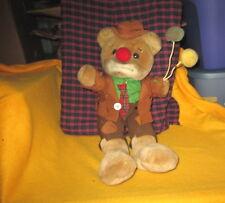 Vintage Luigi Armani Emmett Kelly Jr Plush Doll Hobo Clown Bear with Balloons