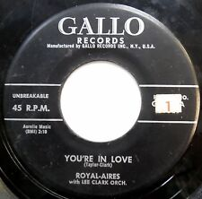 ROYAL-AIRES 45 You're In Love / Please Don't Leave Me Now DOO WOP Gallo w1280