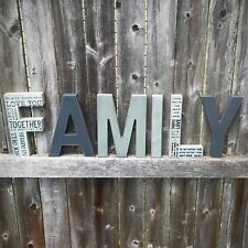 """Free Standing FAMILY Letters 8"""" H, set of 6 letters"""