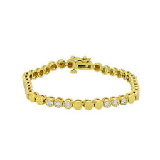 14k Yellow Gold 2.70Ct Round Cut Diamond Tennis Bracelet