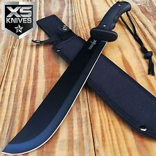 "15"" SURVIVOR HUNTING JUNGLE MACHETE Tactical Fixed Blade Full Tang Knife Bowie"