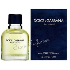Dolce & Gabbana Pour Homme Men Edt Spray 2.5oz 75ml * New in Box Sealed *