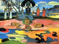 Wall Art Painting Print on CANVAS Mohana no Atua by Paul Gauguin Home Decor 8x10
