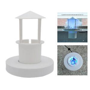Mist Maker Float Guard LED Light Landscape Fish Tank Aquarium Pond Accessory