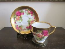 Royal Chelsea England Golden Rose Demitasse Cup And Saucer Heavy Gold