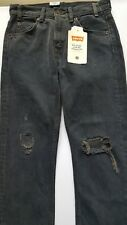 Free People LEVI'S 505c CROPPED JEANS 25 Gray Fray SUMMER OF LOVE High Waist NWT